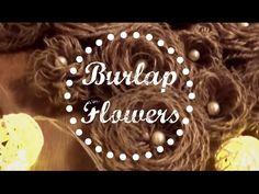 DIY Burlap Flowers - Easy | Preeti Petals - YouTube