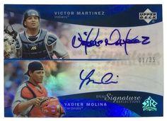 Victor Martinez Yadier Molina Signed 05 UD Dual Signature Reflections 1/35 Card