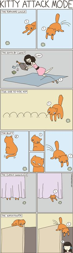 Cat Vs. Human is a great blog and comic!  Shelly is guilty of pretty much all of these...