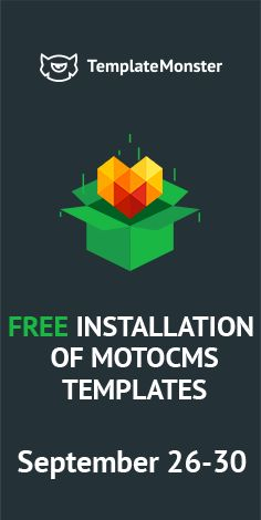 We Don`t Need Special Occasions for Special Offers! Buy Any #MotoCMS Product & Get #Free Installation! Hurry Up! Offer is Valid Till 30th September - http://www.templatemonster.com/moto-cms-3-templates.php?utm_source=pinterest_cpc&utm_medium=tm&utm_campaign=mtseupfree