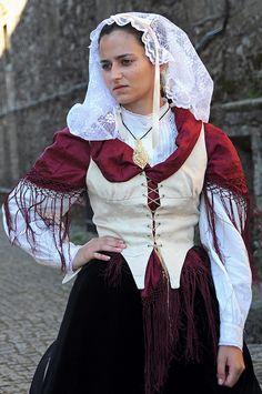 Lady in costume, Santiago