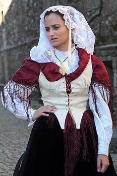 Lady in costume, Santiago de compostela.Galicia