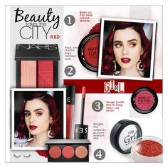 """Beauty : RED"" by alves-nogueira ❤ liked on Polyvore featuring beauty, Illamasqua, MAKE UP FOR EVER, NARS Cosmetics, Sephora Collection and Smashbox"