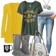 Oakland Athletics Casual Tshirt Outfit