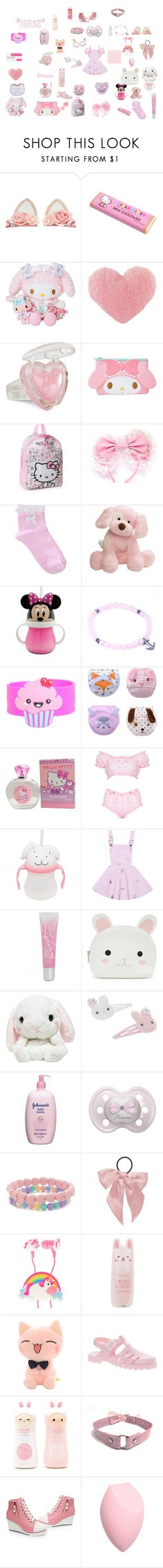 """ddlb"" by unicorn-923 ❤ liked on Polyvore featuring Monsoon, Hello Kitty, Oasis, Gund, Disney, Anchor & Crew, INC International Concepts, Forever 21, Johnson's Baby and L. Erickson"