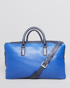 Marc By Marc Jacobs Color Block Leather Weekender Bag