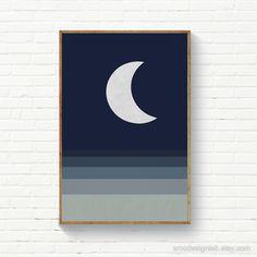 Minimalist Landscape, Minimalist Painting, Minimalist Art, Simple Canvas Paintings, Canvas Art, Acrylic Paintings, Moon Art, Painting Inspiration, Diy Art