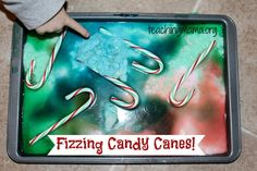 christmas activities for preschoolers Fizzing Candy Canes- a fun science experiment for the Holidays! Winter Activities For Toddlers, Holiday Activities, Toddler Activities, Christmas Activities For Preschoolers, Holiday Crafts, Preschool Winter, Holiday Candy, Holiday Themes, Toddler Fun