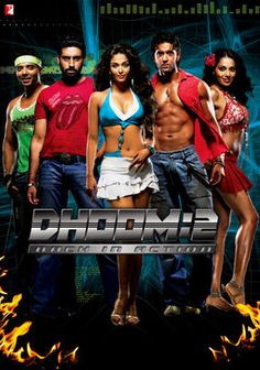 Dhoom 2 (2006) Hot on the tail of notorious globe-trotting thief who's eyeing a target in Mumbai, two cops team with a lovely expert on the crook's methods. Now, each side tries to outwit the other in a race against time.