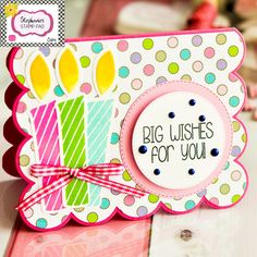 Stephanie's Stamp Pad How-to Video - Big Wishes for You Card Class #42