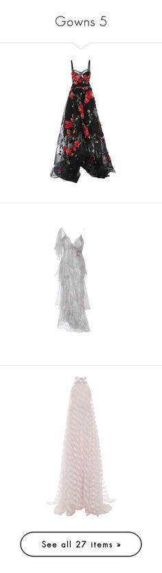 """Gowns 5"" by jckyleeah ❤ liked on Polyvore featuring gown, dresses, gowns, vestidos, black, corset ball gown, hi lo gown, high low evening dresses, hi low dress and corset evening gown"