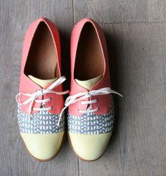 ISIAS PINYA shoes // pastel neon with pattern. lust-worthy #designerwears #wearabledesign