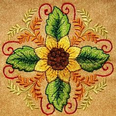 Fall 5 - Colorful Fall Machine Embroidery Design Pattern