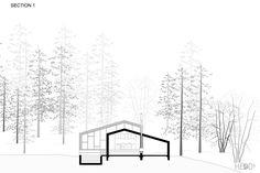 Black Lake vacation cabin on Behance