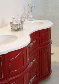 Barn red bathroom vanity | Bathroom ideas | Pinterest | Bathroom ...