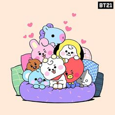 Can't get any cozier than this 🥰 Bts Chibi, Bts Kawaii, Bts Backgrounds, Bts Drawings, Cute Cartoon Wallpapers, Bts Lockscreen, Foto Bts, Bts Pictures, Cute Stickers
