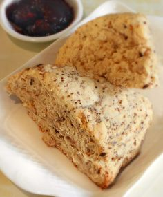 Banana Scones- easy to make...used butter instead of coconut oil and added chocolate chips.