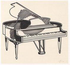 grand piano pencil drawing