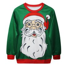 Christmas tree/Santa Claus/snowman/Deer/Gift High Quality 3D Printed Hoodies Women Brand Tops Casual Sweatshirt 2015 Best Gift(China (Mainland))