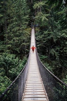 Bridge To Possibilities - Lynn Canyon Suspension Bridge in Vancouver Canada via @rtwgirl Visit Vancouver, Vancouver Travel, Vancouver Island, Vancouver Vacation, British Columbia, Places To Travel, Places To See, Travel Destinations, Columbia River Gorge