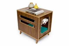 Dwell Crate // Mid Century Modern Pet Furniture // Dog House // Side Table