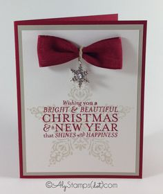 Gorgeous Christmas Card that's simple and easy to make in high quantity... yet makes a statement!