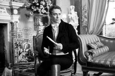 JJ Feild as Henry Nobley in Austenland. Black and white fan edit.