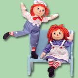 Poseable Raggedy Ann & Andy Dolls