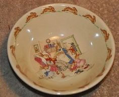VINTAGE ROYAL DOULTON BUNNYKINS CEREAL BOWL BARBARA VERNON in Pottery & Glass | eBay