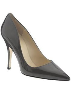 Gray patent Kate Spade heel, I love the shape and design of this shoe