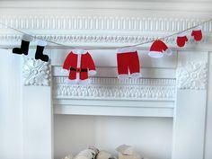 Christmas Garland-Santa's Laundry Mini Garland-Christmas Decoration(Ornaments). $20.00, via Etsy.