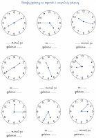BLOG EDUKACYJNY DLA DZIECI: ZEGAR - ZADANIA Polish Language, Montessori Classroom, Education, School, Activities, Blog, Math Worksheets, Languages, Therapy