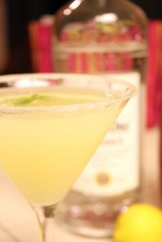 Oprah's Lemon Drop Martini, just because I hate Oprah does not mean I discriminate against her booze :)