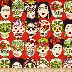 Folklorico Gotas de Amor Cantelope from @fabricdotcom  Designed by De Leon Design Group for Alexander Henry, this fabric is perfect for quilting, apparel and home décor accents.
