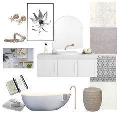 Hamptons Luxe Bathroom Mood Board by on Style Sourcebook Luxe Interiors, Interior Design Mood Board, Bathroom Pictures, Interior, Shower Cubicles, Bathroom Styling, Bathroom Interior, Interior Design, Hampton Style Bathrooms