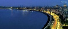 Marine Drive in Bombay, better known as the Queen's Necklace (pictured), is one of the most beautiful waterfronts in the world.