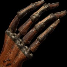 "A 19th Century Wooden Prosthetic Hand"" ...."