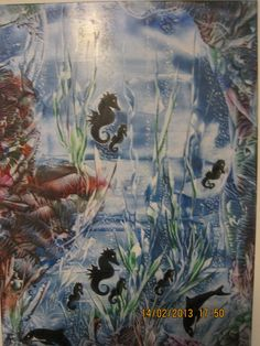 Sea horses,size A4,using beeswax and iron and stylus.Img 1045.By Peter Chattaway.