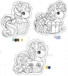 Cupcake Pony Commission by YamPuff