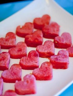 watermelon hearts for bridal shower! Would really work with a Dirty Dancing theme! ;-)