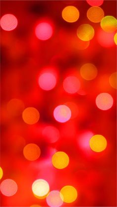 Red and Yellow Circle Lights Mobile Wallpaper
