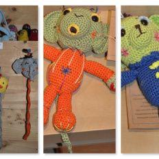 Chupeteros de Dodo Arts and Crafts. Gracias a estos divertidos muñecos los chupetes estarán siempre localizados ;)