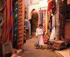 Moroccan carpets at the Marrakesh Medina Souk Marrakech, Visit Marrakech, Marrakesh, Carpet Shops, Traditional Market, Modern City, Carpet Runner, Luxury Travel, Trip Planning