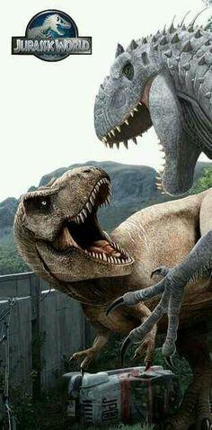 T-Rex V.S. Indominus rex! Let's get it on!