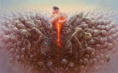 Surrealist Painting By Tomasz Alen Kopera. Tomasz Alen Kopera was born in Kozuchow, Poland in He attended the University of Technology in Wroclaw, Visionary Art, Surreal Art, Artist Painting, Paintings For Sale, Dark Art, Amazing Art, Oil On Canvas, Fantasy Art, Illustration