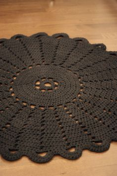Crocheted carpet