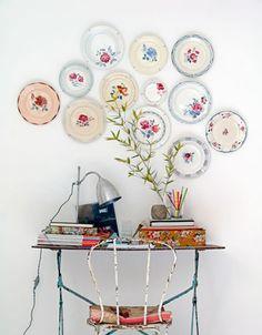 Decora tus paredes con platos