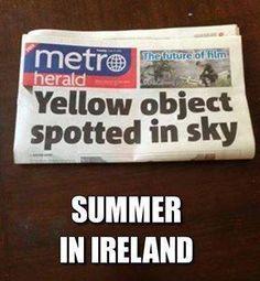 Summer in Ireland meme