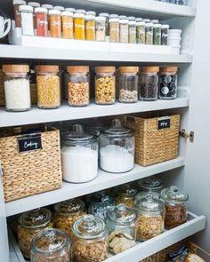 Diy Kitchen Organization Pantry Spice Racks 41 Ideas For 2019 Kitchen Organization Pantry, Spice Organization, Kitchen Pantry, Diy Kitchen, Kitchen Decor, Kitchen Ideas, Organized Kitchen, Pantry Ideas, Pantry Closet