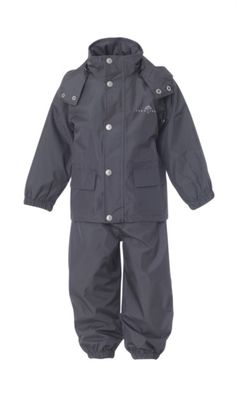 Rain two-piece for kids. Made from breathable and great water-ressistance material. Now you don't have to worry when your kid is playing in the rain!